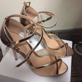 Metallic Rose Gold High Heel Sandals