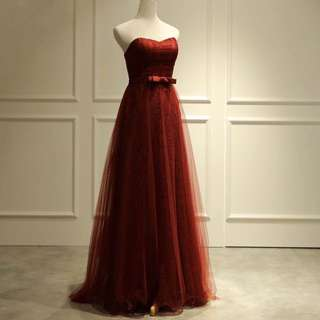 Bebe Wine Red Gown