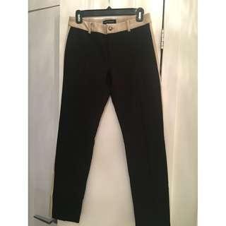 Pink Tartan - Black & tan Leggings - Size 4