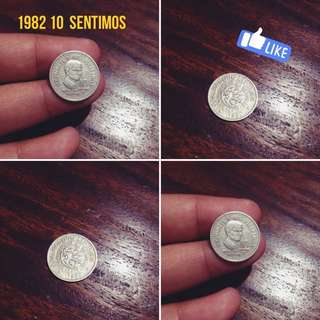 Old Coin 10 Sentimos (1982)