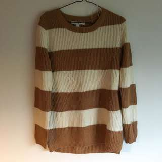 Longline Soft Strip Sweater