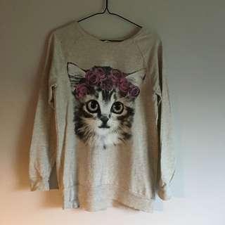 Cochella Cat Sweatshirt Longline
