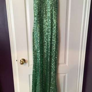 Sequence Long Dress With Back Detail