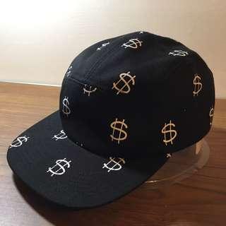 (降價囉)Stussy Camp Cap 金錢圖案五分割帽
