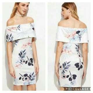 SALE! Off Shoulder Floral Dress ( last 1 pc )