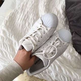 Adidas Superstars White Shell Toe Size 7