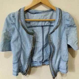 Acid Washed Soft Denim Jacket