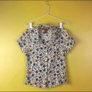 Floral Blouse Colourful Top Size 8