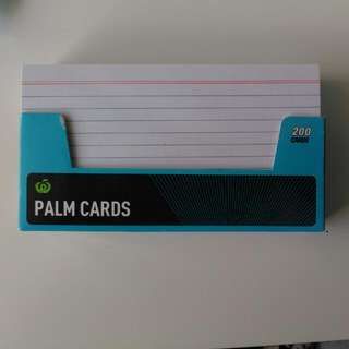 Nearly Full Deck of Palm Cards