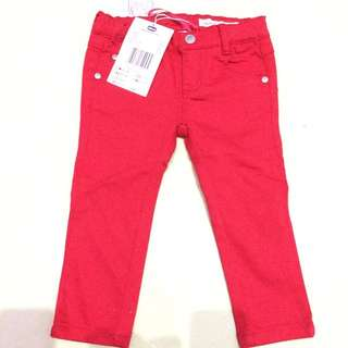 Celana Jeans Bayi Cherry Red