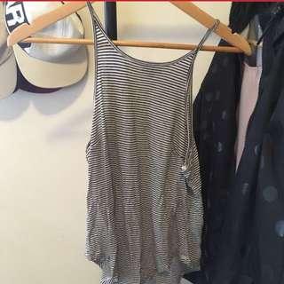 Bardot Striped Top Size 8