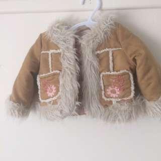 Faux Suede/fur Baby Jacket