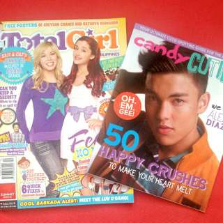 Ariana Grande & Jennette McCurdy Total Girl Magazine -Oct2013 Issue + CANDY CUTIES!!