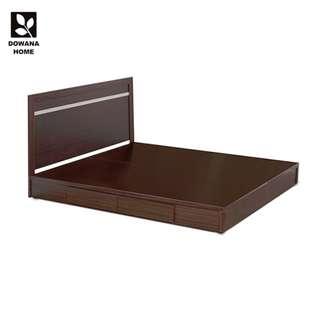 克利奧鋼刷耐磨二件式組合床片+抽屜床底-胡桃色15048P-2BB【組】
