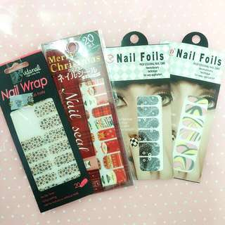 全新 ❤ nail foils指甲貼 豹紋 造型拼接 聖誕節