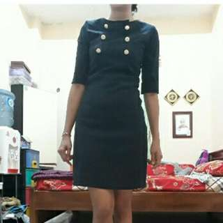 Dress, Dark Blue, S to M