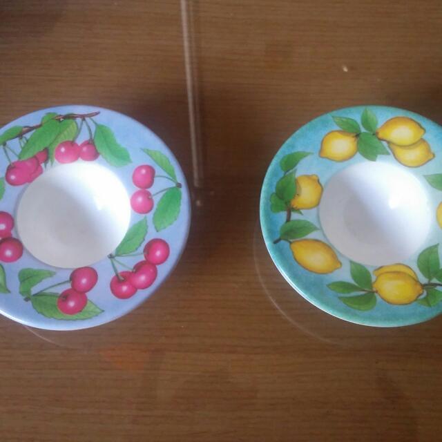(二手)水果彩繪蛋杯兩個(一起共200元含運)
