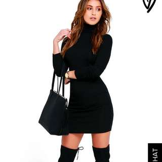 Lulus Black Long Sleeve Dress