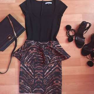 Brand: Bershka Peplum Dress