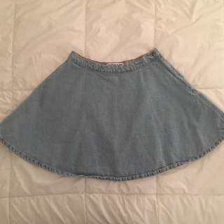 American Apparel Light Denim Circle Skirt Medium