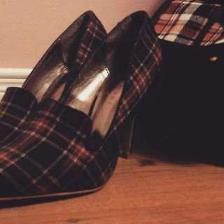 Attitude Plaid Shoes