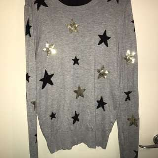 Miss Shop Ladies Star Jumper Size 16