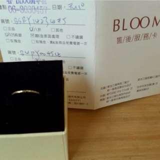 日本BLOOM戒指 純銀+鍍K金表面處理