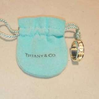 TIFFANY & CO. Roman Numeral Silver Ring .Size 6