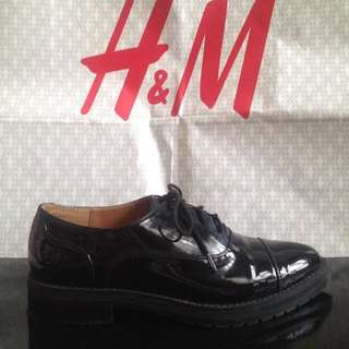 H&M Women's Patent Leather Oxford