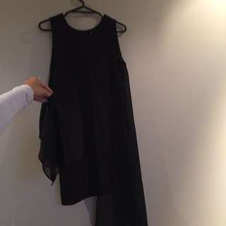 Black short Dress With See Though Panels