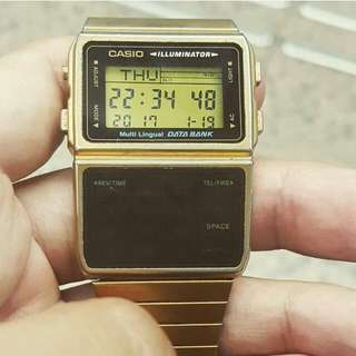 *reduced* Gold Unisex Casio Data Bank
