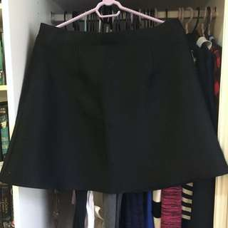 Missguided A-Line Black Skirt size 14