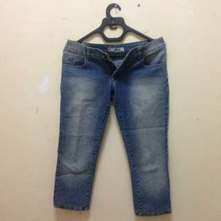 Dark Blue Knee Jeans 7/8