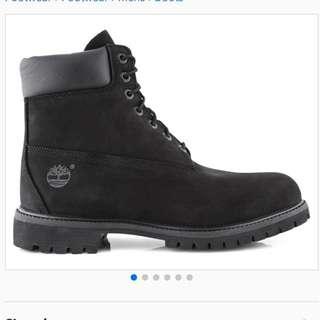 """Timberland Men's 6"""" Premium Black Waterproof Boots"""
