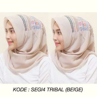 SQUARE TRIBAL BEIGE