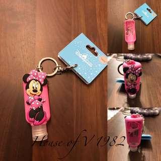 現貨 香港迪士尼限定米妮攜帶乾洗手鑰匙圈