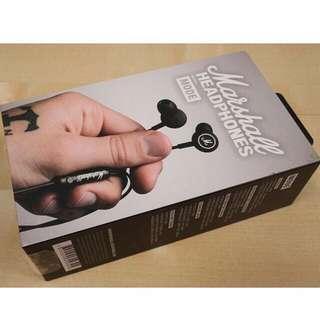 BRAND NEW: MARSHALL MODE ORIGINAL Brand New in Retail Box earphones