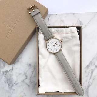 THE HORSE - Rose Gold / Grey Leather Watch