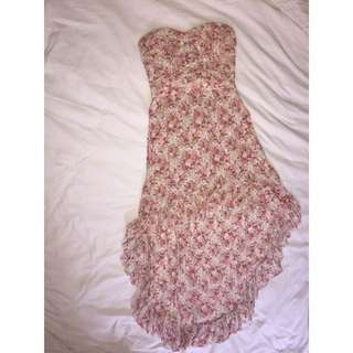Cold Shoulder Rose Pattern Dress
