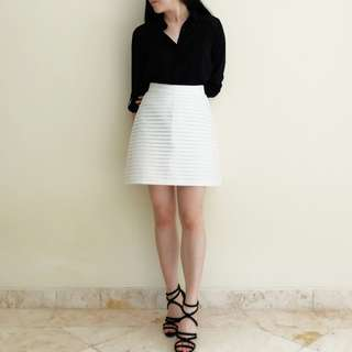 Love, Bonito White Structured Skirt
