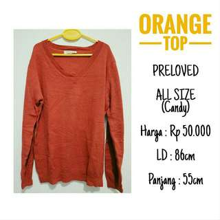 Orange Knit Top Candy