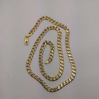 Solid 18CT Yellow Gold Curb Link Chain