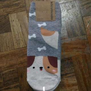 Korean Ankle Socks (Cute Dog)