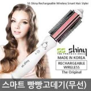 [SS Shiny Korea] Rechargeable Wireless/Cordless Volume iron Curling Brush Hair Straightener