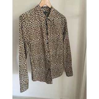 Forever 21 Leopard Print Men's Shirt Small