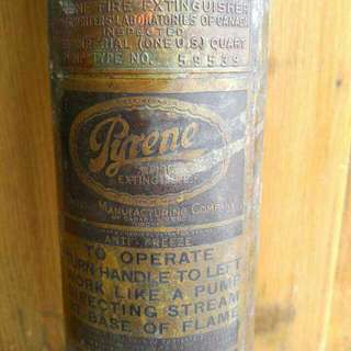 Vintage Canadian Made Fire Extinguisher.