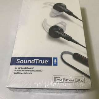 BOSE SOUNDTRUE HEADPHONES BLACK <NEW AND SEALED>