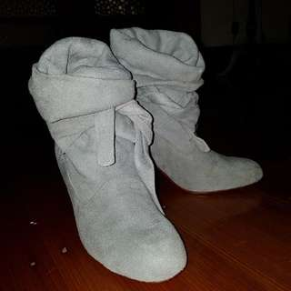 Mogil - Grey Suede Tie Up Booties (As New) #CHEAPASCHIPS