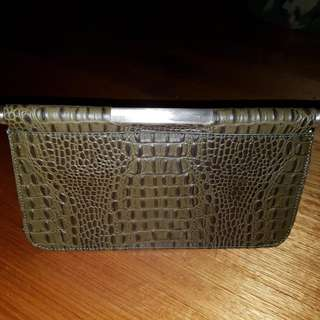 BCBGNAXAZRIA Olive Green Clutch (As New)
