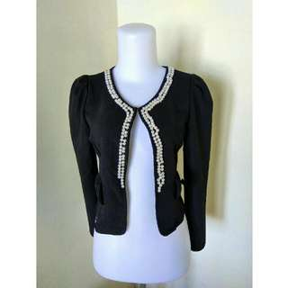 (Preloved) Cardigan Hitam